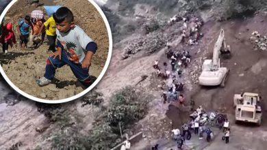 Photo of Dramático video: avalancha de tierra se traga a personas