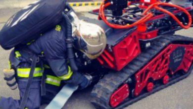 Photo of 'Colosus', robot de 500 kilos, fue uno de los 400 bomberos que actuaron en Notre Dame | Video