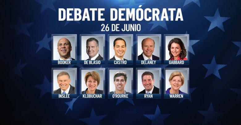 Minuto a minuto: sigue aquí el debate demócrata 1