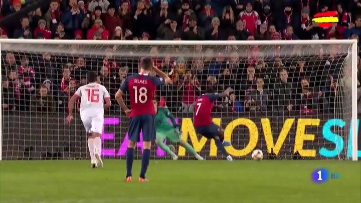 1-1: España se queda con la miel en los labios en Noruega 1