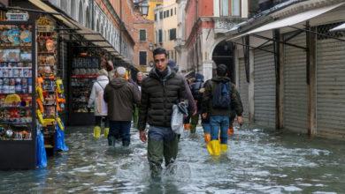 """Venecia en estado de emergencia, """"un desafío para todo el país"""": Brugnaro"""