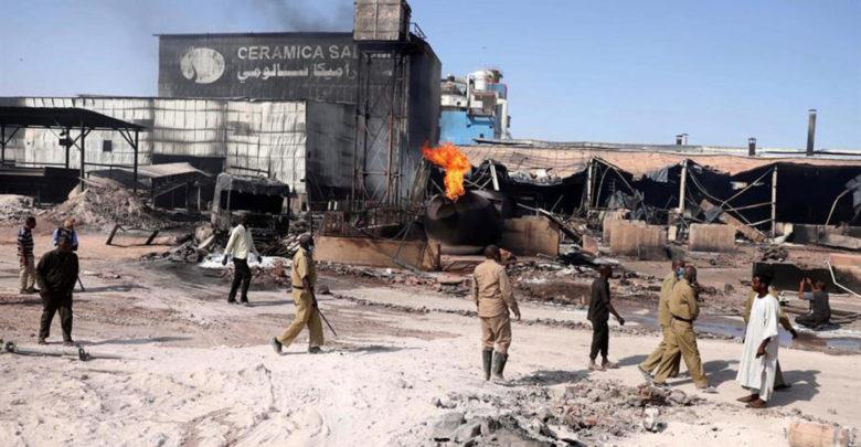 Sudán: incendio infernal tras explosión mata a más de 20 1