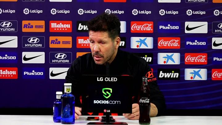 """Simeone: """"Creemos en Joao Félix, es mi responsabilidad encontrar su mejor versión"""""""