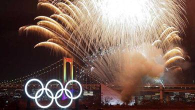 Photo of Encienden enormes aros olímpicos de cara a las olimpiadas de Tokio