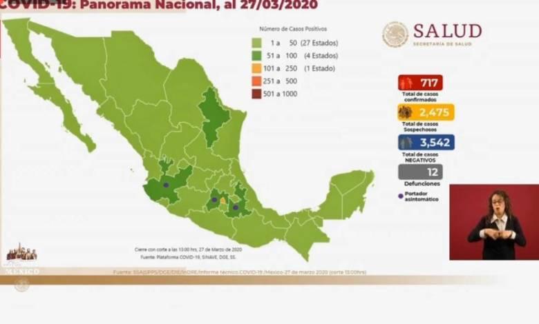 Covid-19 en México: 717 casos confirmados y 12 decesos 1