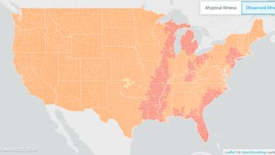Photo of El mapa de fiebre de Kinsa podría mostrar cuán crucial es quedarse en casa para detener la propagación de COVID-19
