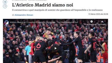 """Photo of Italia, contra el coronavirus: """"Somos el Atlético de Madrid"""""""