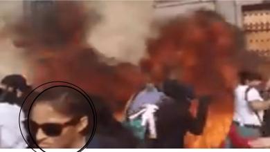 Photo of VIDEO: Identificada mujer que lanzó bomba molotov contra Palacio Nacional