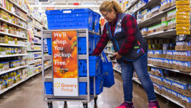 Photo of La aplicación Walmart Grocery ve descargas de registros en medio de COVID-19, supera a Amazon en un 20%