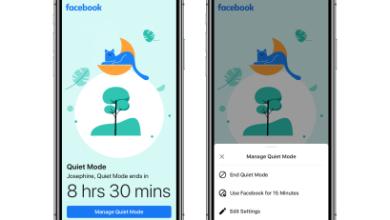 Photo of La nueva opción «Modo silencioso» de Facebook le permite desactivar las notificaciones push de la aplicación