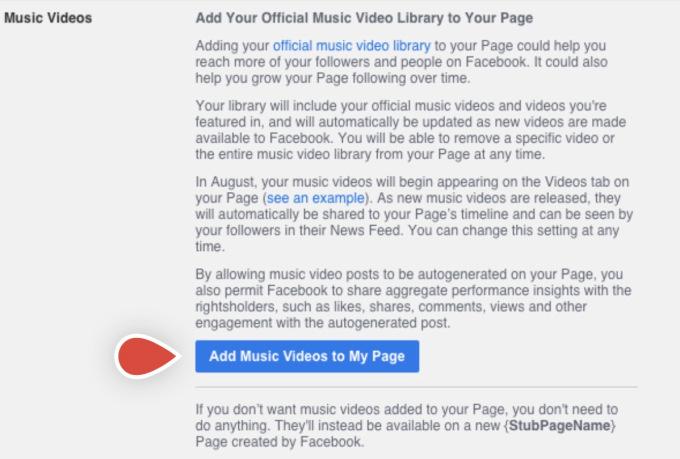 Facebook lanzará videos musicales con licencia oficial en los Estados Unidos el próximo mes 2