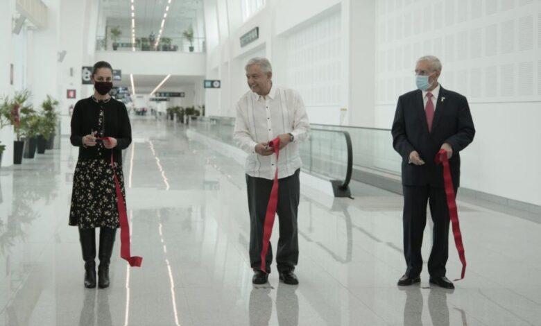 Inaugura AMLO anexo de la terminal 2 del aeropuerto de la CDMX 1