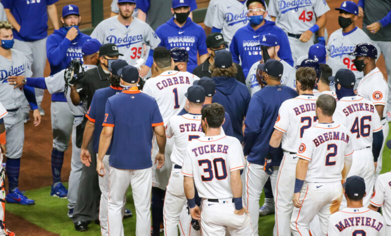 Dodgers derrotan a Astros, en juego con altercado 1
