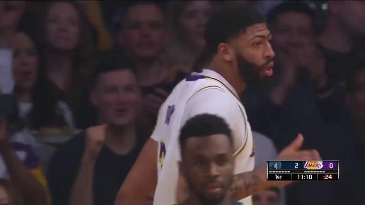 Anthony Davis (Lakers), el más destacado de la jornada