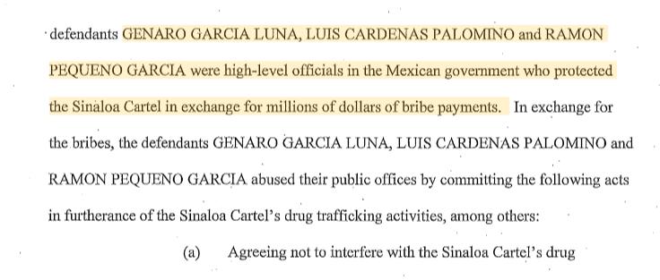 EU acusa a Cárdenas Palomino y Ramón Pequeño de nexos con narco, en caso García Luna 2