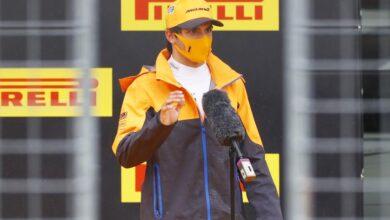 """Photo of Sainz: """"Estoy muy feliz, es mi primer tercero en una calificación"""""""