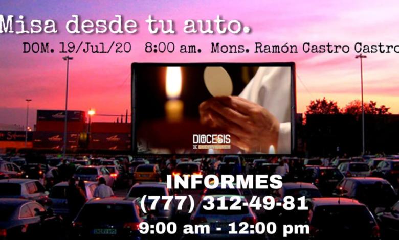Como en un autocinema, Diócesis de Cuernavaca celebrará 'misa desde tu auto' | Video 1