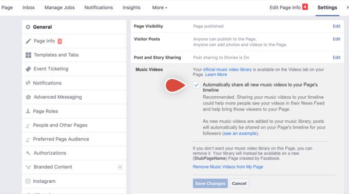 Facebook lanzará videos musicales con licencia oficial en los Estados Unidos el próximo mes 1