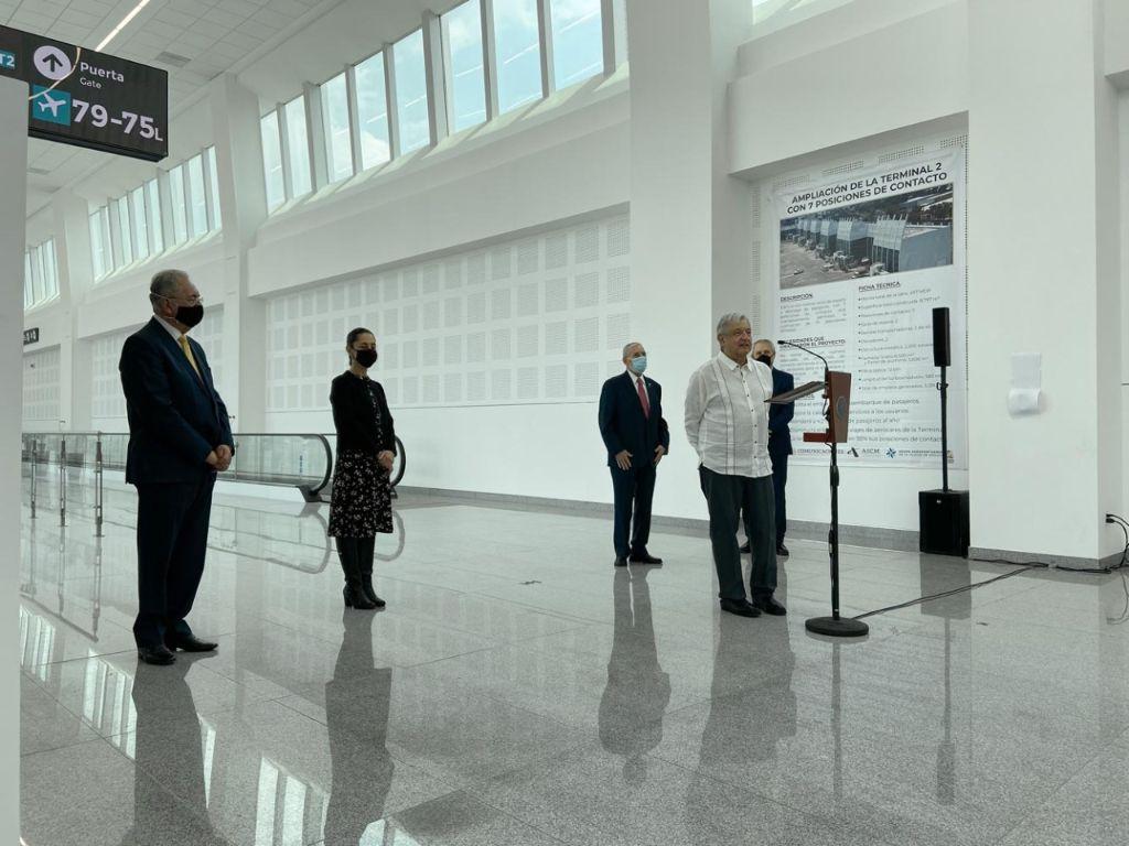 Inaugura AMLO anexo de la terminal 2 del aeropuerto de la CDMX 2