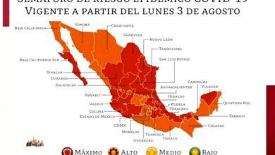 Photo of Semáforo Covid-19: mitad del país baja a naranja; otra mitad sigue en rojo