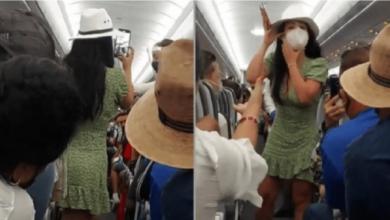 Photo of VIDEO: Surge #LadyCovid, bajan de avión a una mujer ebria, dice que el coronavirus no existe