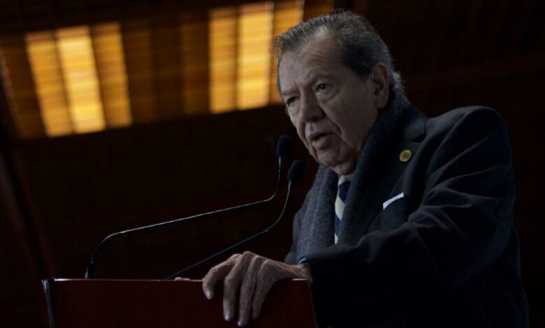 Muñoz Ledo: 'nunca he visto más dinero invertido en una campaña' como en la de Delgado 1