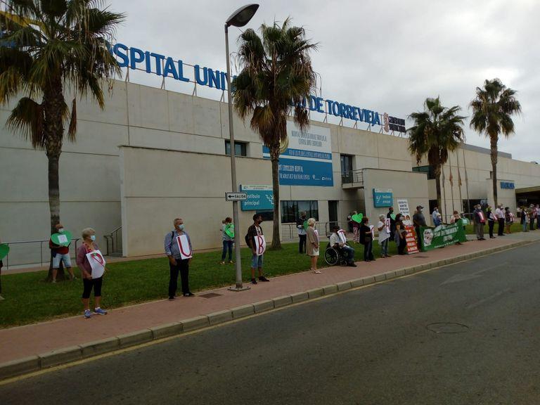 Acto de la Plataforma por la Salud Pública en Torrevieja.