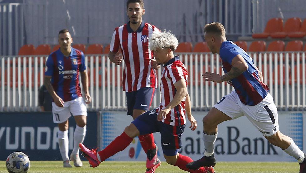 1-1. El Atleti B empató a pesar del ilusionante gol de Giuliano Simeone 14