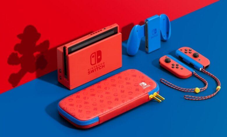 Se revela el nuevo interruptor de Nintendo color Mario 1