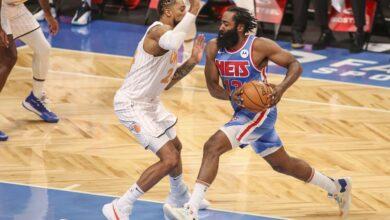 Explosivo estreno de James Harden en los Nets con 32 puntos y un triple doble 50