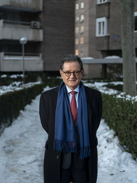 Carlos Castresana, fotografiado este miércoles en Madrid.