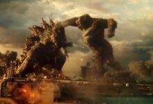 Las imágenes de Godzilla vs Kong muestran al mono golpeando a Gojira