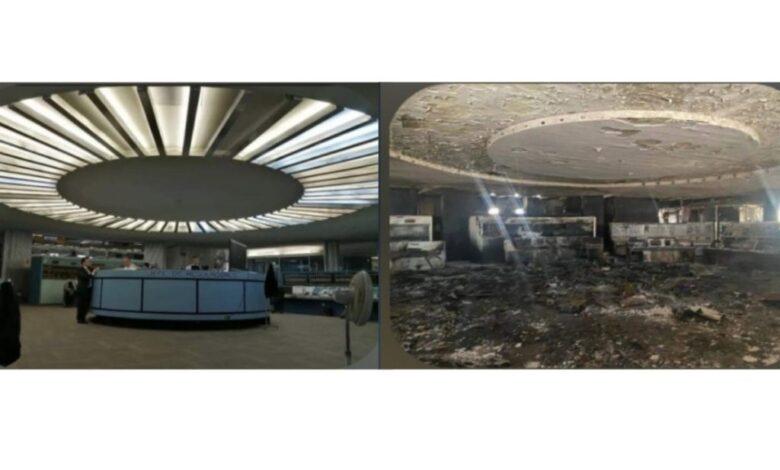 Muestran cómo quedó Centro de Control del Metro tras incendio 1