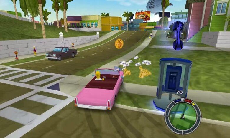 Simpsons: Hit & Run Mod convierte los 3 niveles en un Springfield masivo