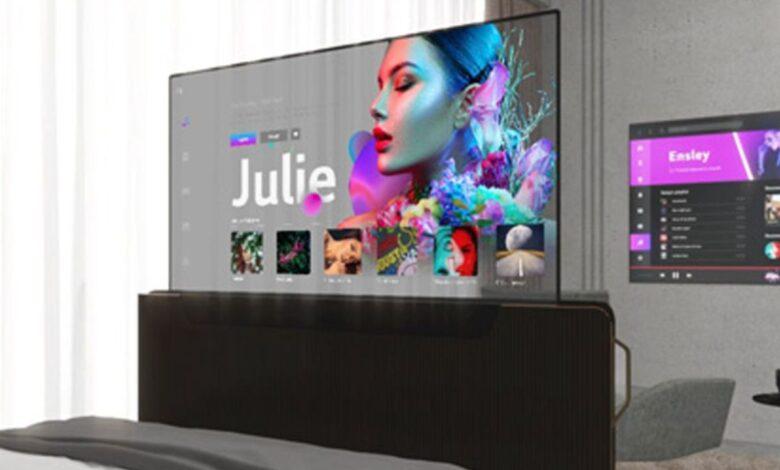 Teléfono LG enrollable y televisor transparente revelados en un evento 1