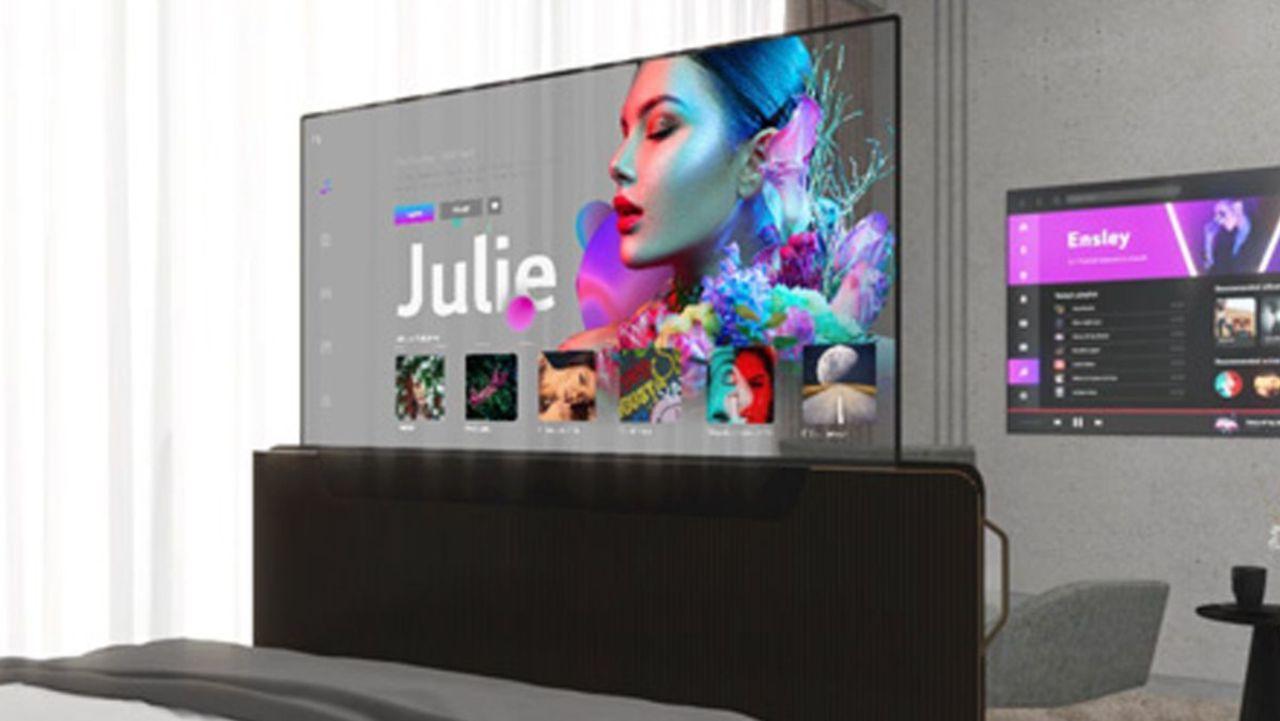 Teléfono LG enrollable y televisor transparente revelados en un evento 2