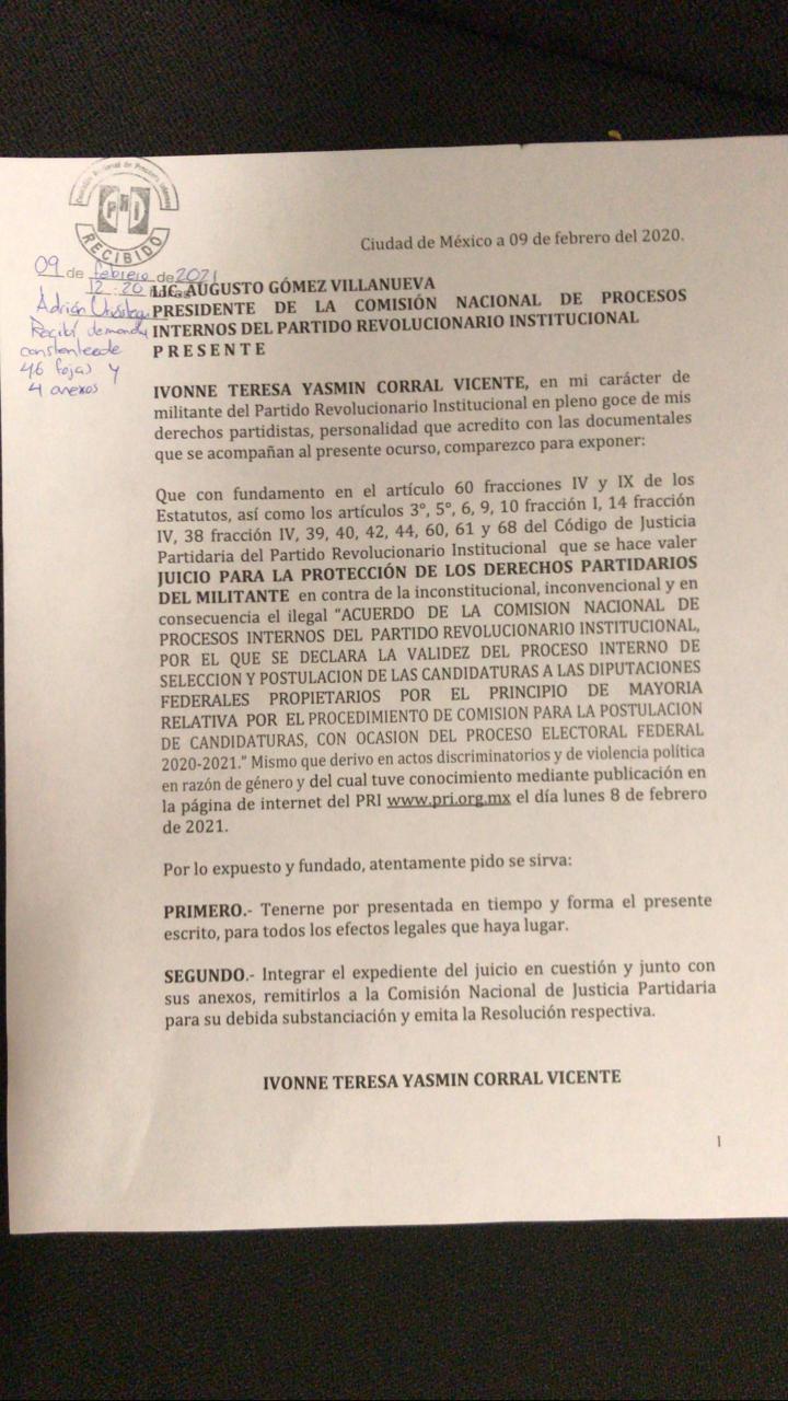 La candidatura de Sandra Vaca, reclutadora de Cuauhtémoc Gutiérrez 2, es impugnada por el PRI
